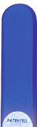 Image of Coloured Blue glass nail file