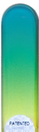 Image of Coloured Green Yellow glass nail file
