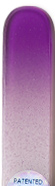 Image of Coloured Purple White glass nail file