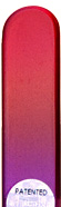 Image of Coloured Red Purple glass nail file