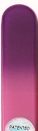 Image of Coloured Purple Pink glass nail file