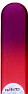 Image of Coloured Purple Red glass nail file