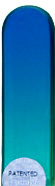 Image of Coloured Blue Turquoise glass nail file
