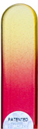 Image of Coloured Yellow Red glass nail file