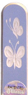 Image of Engraved Butterflies glass nail file