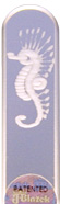 Image of Engraved Seahorse glass nail file