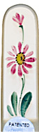 Image of Hand Painted Gerbera Red glass nail file
