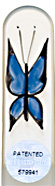Image of Hand Painted Butterfly Blue glass nail file