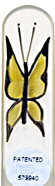 Image of Hand Painted Butterfly Yellow glass nail file