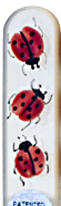 Image of Hand Painted Ladybirds glass nail file